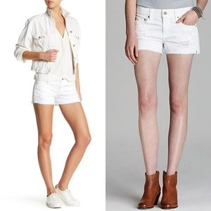 Ag Adriano Goldschmied Shorts - AG The Bonnie relaxed short white distressed 27